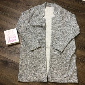 Zara collection Gray Marled open long cardigan
